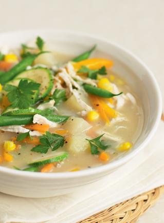 Chuk and veg soup