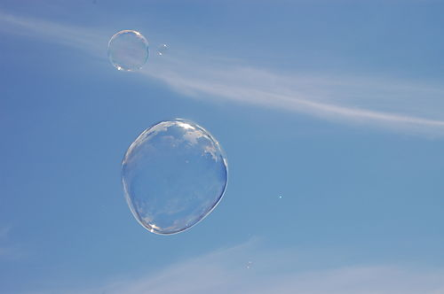 Bubble in sky