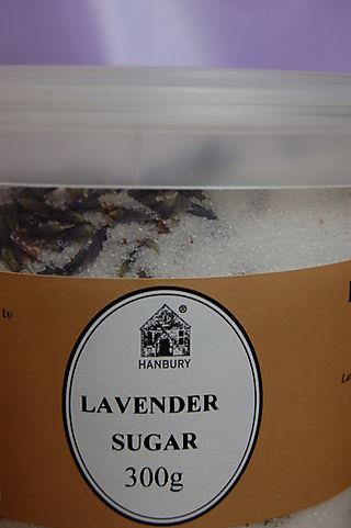 Lavender sugar