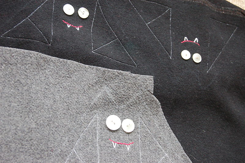 Bat embroidered