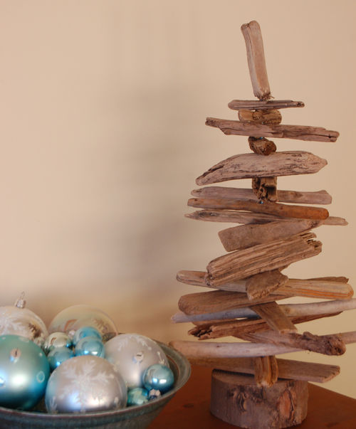 Driftwood tree in colour