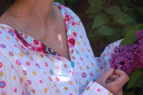 Summer blouse neckline