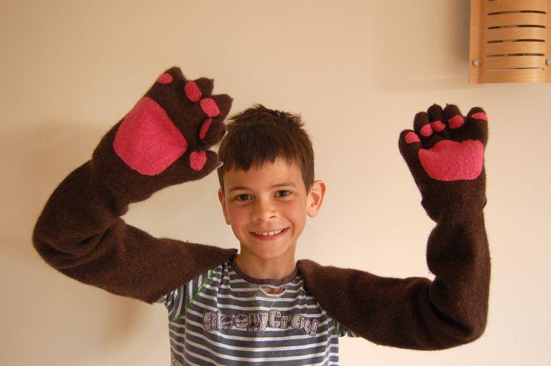 Mark in bear arms