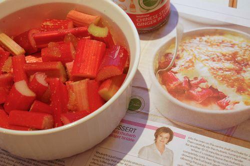 Rhubarb brulee