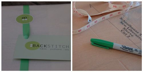 Backstitch diptich