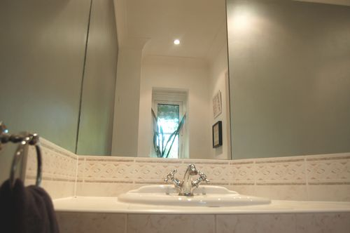 Silver bathroom