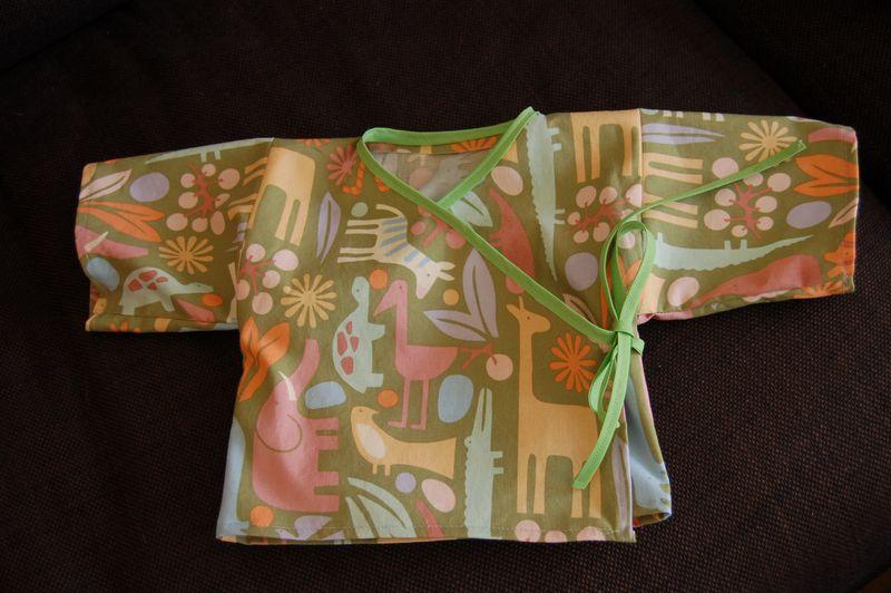 Weekend Sewing baby kimono