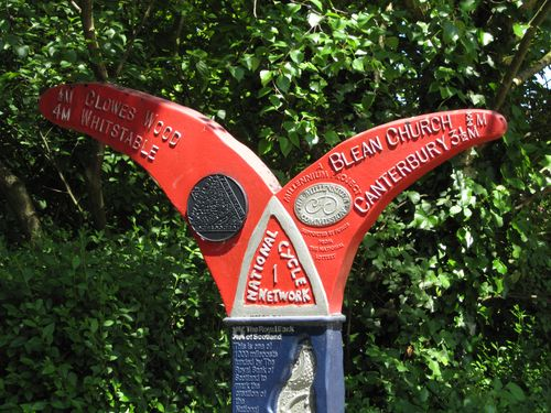 Crab and winkle signpost