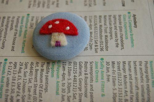 Dottiecookie toadstool badge